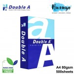 Double A Premium A4 White Paper 80gsm 500 Sheets/Ream