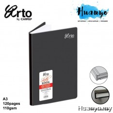 Campap Arto Hard Cover A3 Sketch Book 110gsm/120 pages
