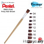 Pentel Brush Pony Hair ZBS2 - Flat