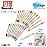 Zig Fabricolor Twin Tip Fabric Marker Pen (List 1/2)