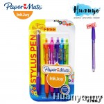 PaperMate InkJoy 300RT Ball Point Pen - 0.7 mm (Colours of 5) Free Stylus Pen