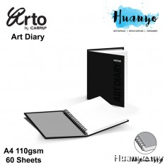 Campap Arto Wire O Art Diary/Sketch Book A4 110gsm/60 sheets