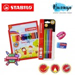 Stabilo Swans 24 Colour Pencils Back to School Value Pack