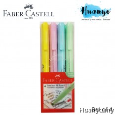 Faber-Castell Textliner Pastel Colour Highlighter (Set of 4)