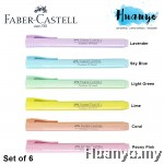 Faber-Castell Textliner Pastel Colour Highlighter (Set of 6)