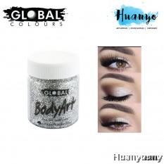 Global Colours BodyArt Face Paint Glitter Gel - Silver