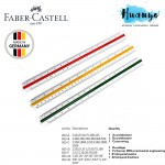 Faber Castell Architect Technical Drafting Triangular Scale Ruler 853 ( Type A / B / D / Z1 , Metric / Imperial)