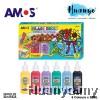 Amos Glass Deco Paint 22ML 6 Colours Set