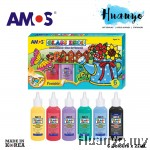 Amos Glass Deco Paint 22ML 6 Colours Set