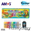 Amos Glass Deco Paint 22ML 10 Colours Set
