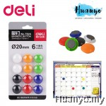 Deli Magnetic Button 20MM -12 pcs/6 Colours