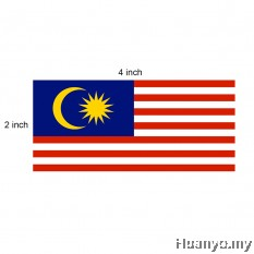 Bendera Malaysia - Malaysia Flag - 2´ x 4´ (60cm x 120cm) Set of 2