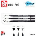 Sakura Pigma Professional Calligraphy Brush Pen Fine/Medium/Bold (Set of 3)