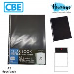 CBE Clear Book Refill Pocket Sheet Protector A2