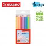 Stabilo Swans Pastel Edition Color Colour Pencils (Wallet of 12 Colours)