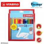 Stabilo Swans Colour Pencils With Neon and Metallic (Color of 24)