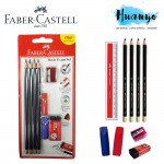 Faber-Castell 2B Pencil Basic Exam Set 212141