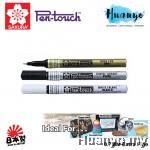 Sakura Calligraphy Pen Touch Paint Marker Pen Extra Fine (Gold/Silver/White)