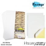 D'Arte Inkjet Laser Printing Simili White Sticker Paper 100 Sheets Pack (160gsm)