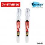 STABILO Correction Fluid Pen Metal Tip XL 10ml (Set of 2)