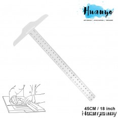 Apex Plastic Metric Double Side T Square Ruler  (45cm,18 inch / 60 cm,24 inch)
