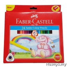Faber-Castell Jumbo Colour Pencils 24L