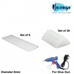 Sanko Star 6MM Diameter Glue Gun Stick Refill Value Pack(6 pcs and 30 pcs)