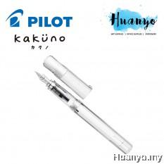 Pilot Kakuno Calligraphy Fountain Pen - Clear Barrel (Black Ink)