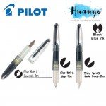 Pilot Petit 1/2/3 Calligraphy Mini Fountain Sign / Brush / Fude Brush Pen (Black / Blue Ink)