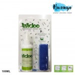 Wicloo White Board Cleaner Fluid With Micro Fiber Cloth - 100ML