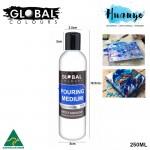 Global Colours Acrylic Fluid Painting Pouring Medium - 250ML