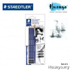 Staedtler Lumograph Water Colour Graphite Aquarell Drawing Sketching Pencils (Set of 4)