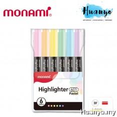 Monami Pastel Colour Highlighter Textliner Pen 601 (6 Colours Set)