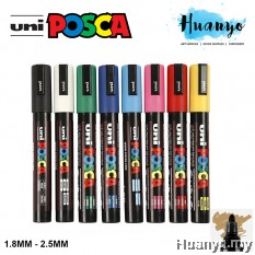 Uni Posca Water-Based Poster Colour Bullet Medium Tip Paint Marker PC-5M