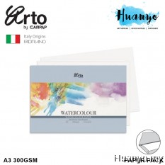 Campap Arto Fabriano Watercolour Paper A3 300GSM 12 Pcs (25% Cotton Cold Pressed)