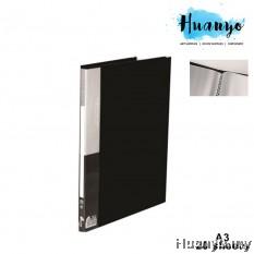KoBest PVC Hard Cover Plastic Clear Book Holder Folder A3 (20 Pockets)