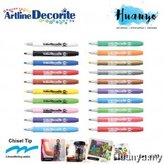Artline Decorite Multi Surface Marker - Chisel Flat Tip (3.0MM) [Set of 20]