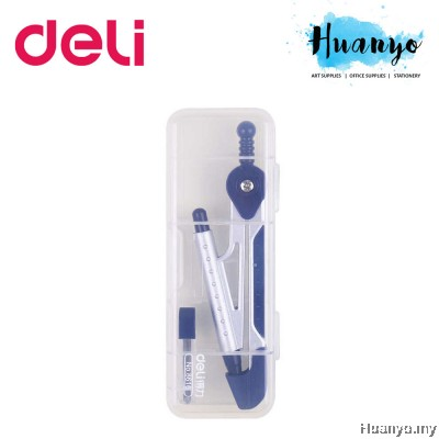 Deli Geometry Math Drawing Metal Compass with Mechanical Pencil 0.5MM