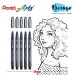 Pentel Pointliner S20P Technical Drawing Drafting Sketching Pen (0.05/0.1/0.3/0.5/0.8MM)
