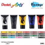 Pentel Arts Acrylic Colour Paint 28ML (List 2)