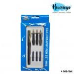 Topsky Calligraphy Fountain Nib Pen (Set of 4) [Free 3 Ink Refills]