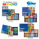 Mungyo Artist Oil Pastel Set of 12 / 24 / 36 / 48 Colour (70MM Full Length Paste Color)