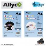 Allyco Light / Dark T-Shirt Fabric Transfer Paper A4 - 10 Sheets/Pack