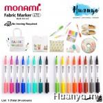 Monami Fabric Brush Tip Marker Pen(Per Pcs) (No Iron Required) [List 1]