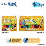 Artline Stix Calligraphy Brush Marker Pen  4 / 6 /12 / 20 Colour Value Set