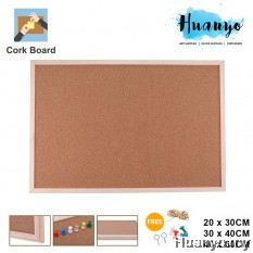 Wooden Frame Notice Bulletin Cork Board (20 x 30 / 30 x 40 /40 x 60 CM)