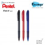 Pentel I Feel it Retractable Ball Pen 0.7MM (Black/Blue/Red)