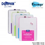 Dolphin Beready Portable Mini Magnetic Dry Erase White Board Set ( S - 21.5 X 28CM / M - 24 x 34 CM/ L - 35 x 43cm)