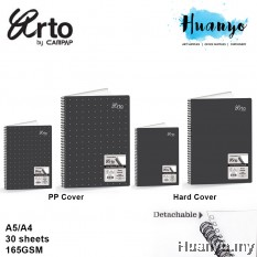 Campap Arto Wire O PP Cover / Hard Cover Detachable Sketch Book 165GSM 30 Sheets (A4 / A5)