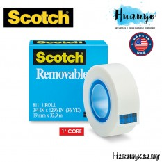 3M Scotch 811 Removable Adhesive Tape (19mm x 33M)
